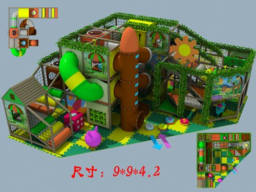 Playground Equipment Product name: Playground Equipment Model:Rockets series Size:900*900*420