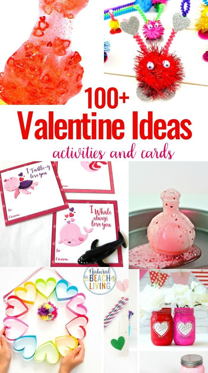 100+ Valentine's Day Ideas and Activities for Kids is part of Preschool valentine crafts, Valentine activities, Valentines reading activities, Preschool valentines, Preschool valentine cards, Printable valentine crafts - 100+ Valentine's Day Ideas and Activities for Kids and Adults, Valentines Day Slime, Preschool Valentine Cards, Valentine's Day Cards for Kids, Tons of Non Candy Valentine Ideas for Kids with Free Valentine's Day Printables, Valentine Crafts for Preschoolers and Kindergarten, Valentine Activities