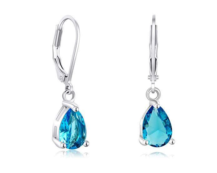 67d842203 Amazon.com: Buyless Fashion Girls And Women Teardrop Dangle Earrings With  Leverback CZ Stone- EDGTRDAQU: Jewelry