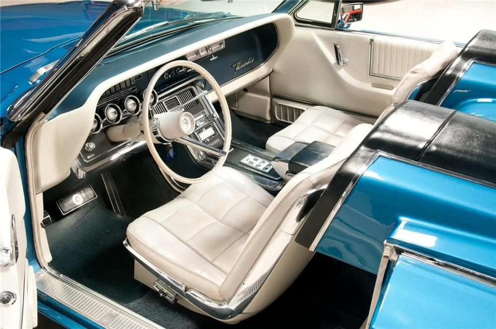 1966 Ford Thunderbird Convertible Interior View Ford Thunderbirds