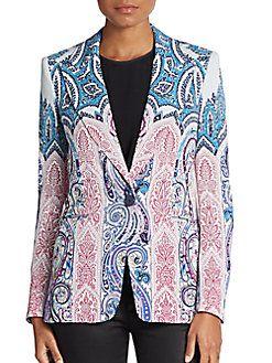 ETRO Cady Paisley-Print Blazer. #etro #cloth #blazer