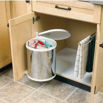 Hafele Built In Waste Bin For Swing Out Behind Door 32 Quart 8 Gallon Hafele Bathroom Trash Can Trash Can Cabinet
