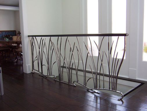 Best Custom Made Cat Tail And Willow Interior Wrought Iron Railing Interior Railings Interior 640 x 480