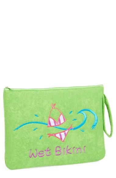 Capelli Waterproof Wet Swim Suit Bag with Wristlet Pink Where/'s The Pool Party?