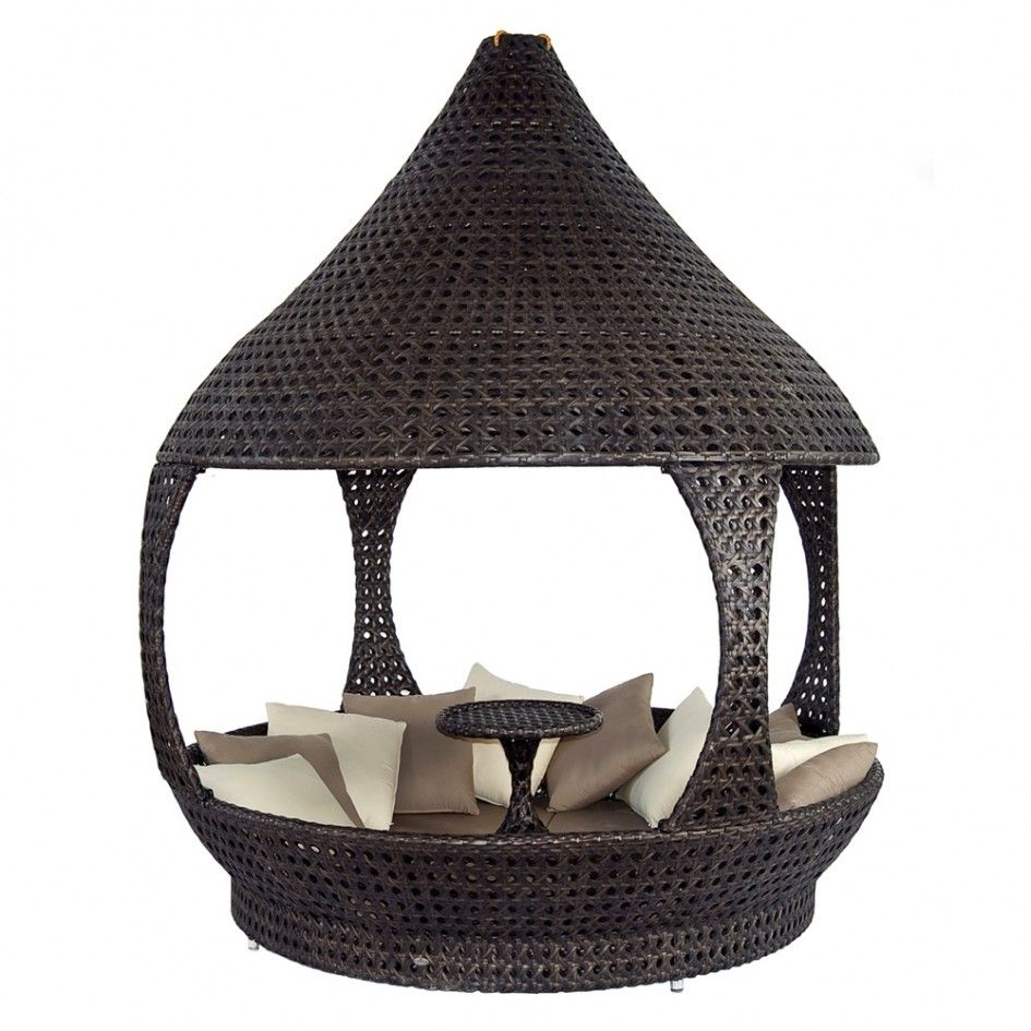 Patio U0026 Outdoor Amazing Outdoor Daybed Rattan Wicker Furniture Brown Finish Unusual  Patio Furniture Small Center