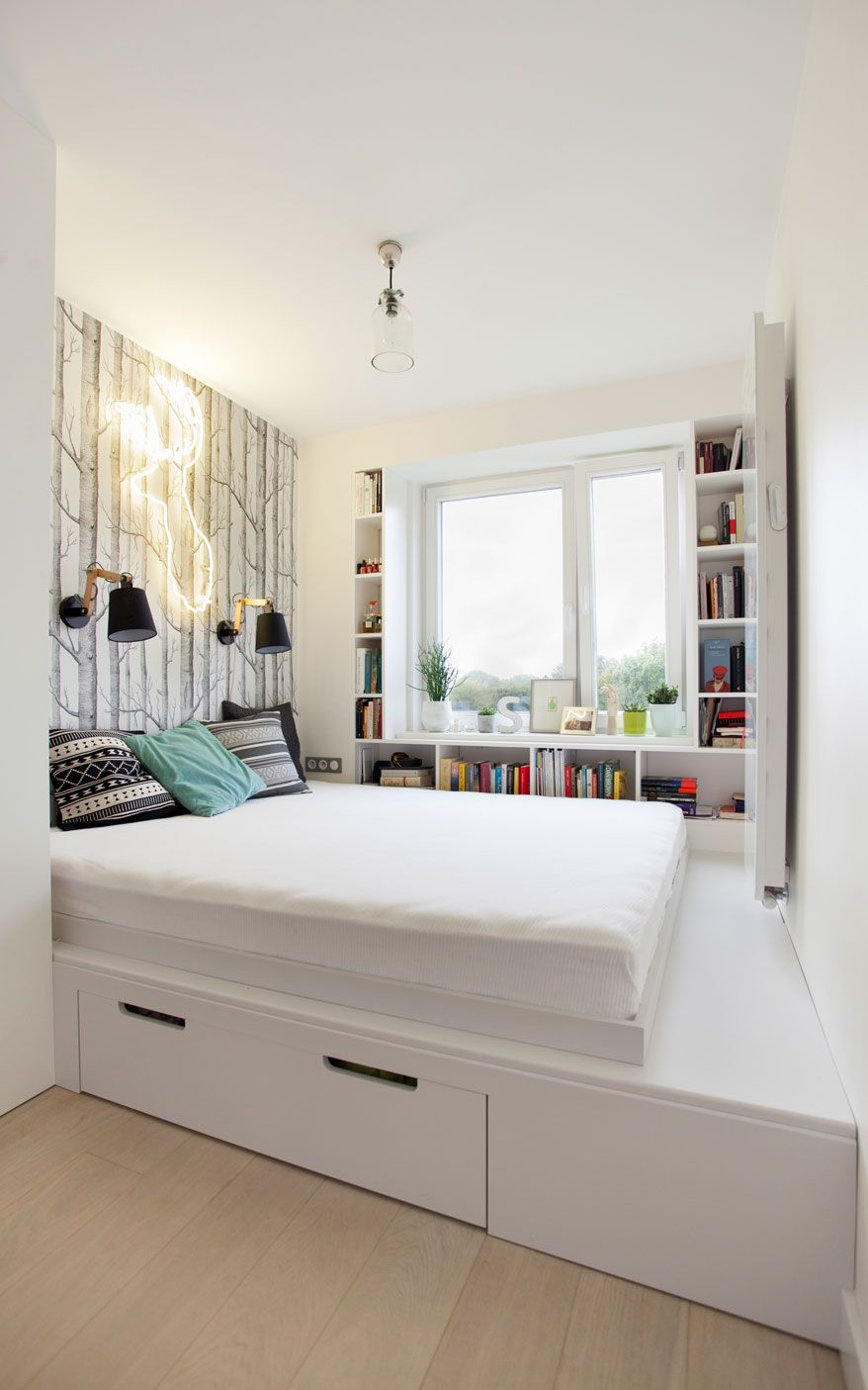 Boho loft bedroom  Scandinavian apartment in Mokotów m  BOHO Studio  english