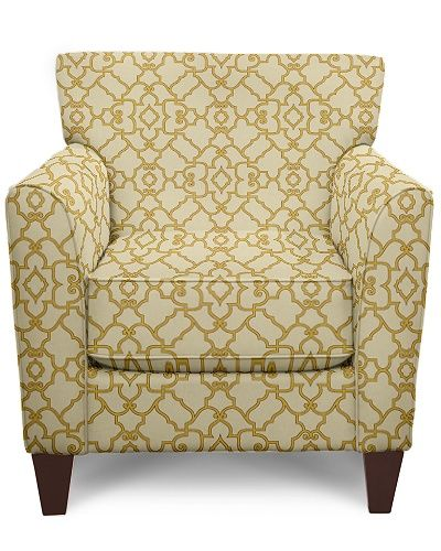 Allegra Stationary Occasional Chair by La-Z-Boy.....in pattern D996542..... I may repeat the patterns on different chairs, but can't help testing out the difference on appearance...FUNZIE