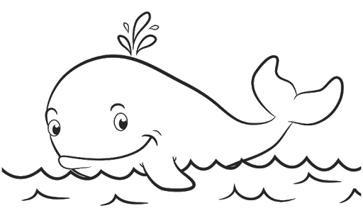 Aneka Mewarnai Gambar Hewan Ikan Paus Coloring Di 2019 Color