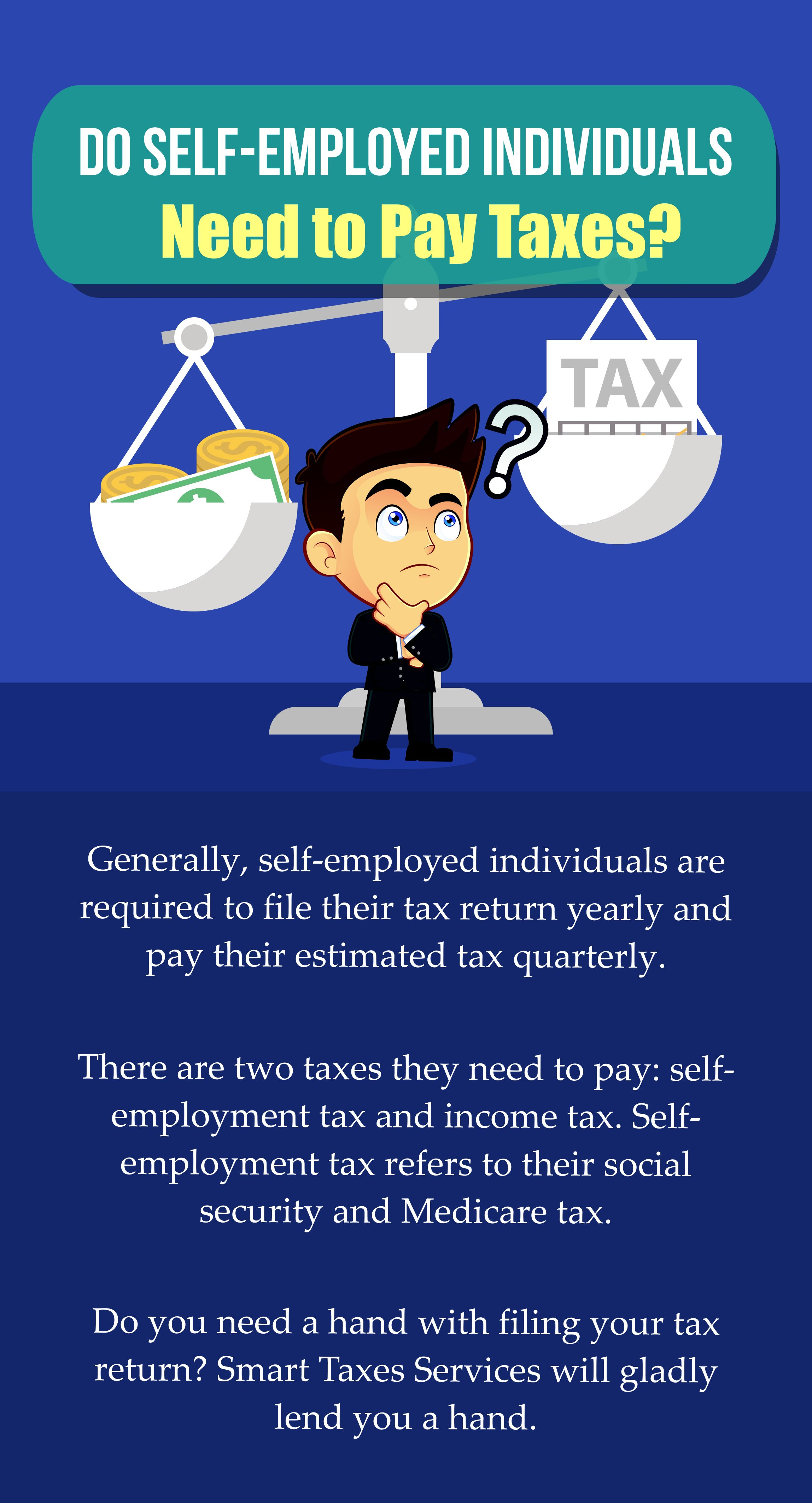 Do Self Employed Individuals Need To Pay Taxes Selfemployed Taxes Paying Taxes Tax Services Income Tax