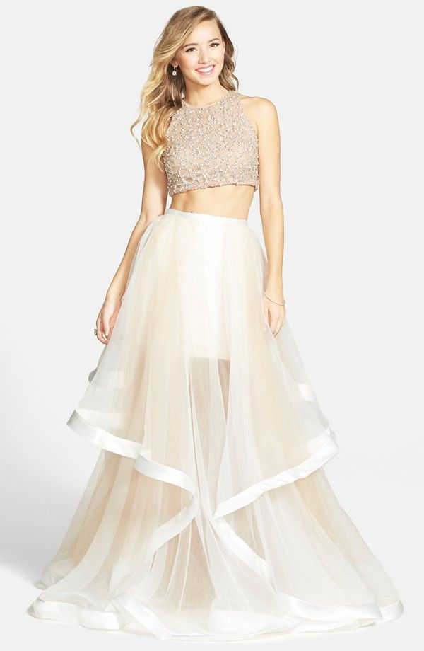 Smokin\' Hot Wedding Dresses Under $500 | Beaded top, Terani couture ...