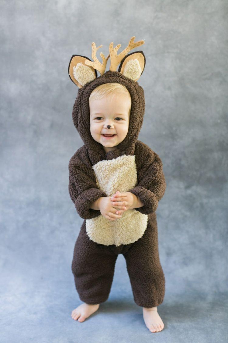 bambi kost m baby fleece geweih filz ohren fasching. Black Bedroom Furniture Sets. Home Design Ideas