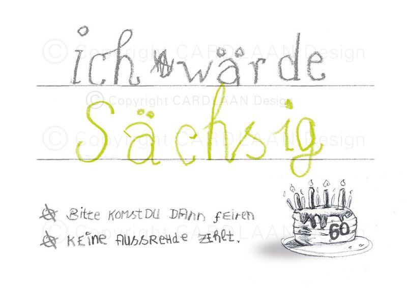 Einladungskarten   Einladung 60. Geburtstag (Sächsig)   Ein Designerstück  Vonu2026