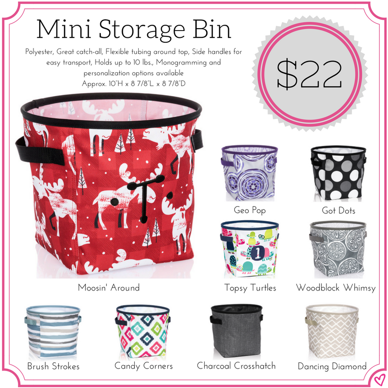 Thirty One Mini Storage Bin Fall Winter 2017
