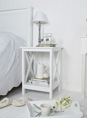 I Chose This As My Side Tables 2 Because It Has Some Vertical And Horizontal Lines Side Tables Bedroom White Bedside Table White Side Table Bedroom