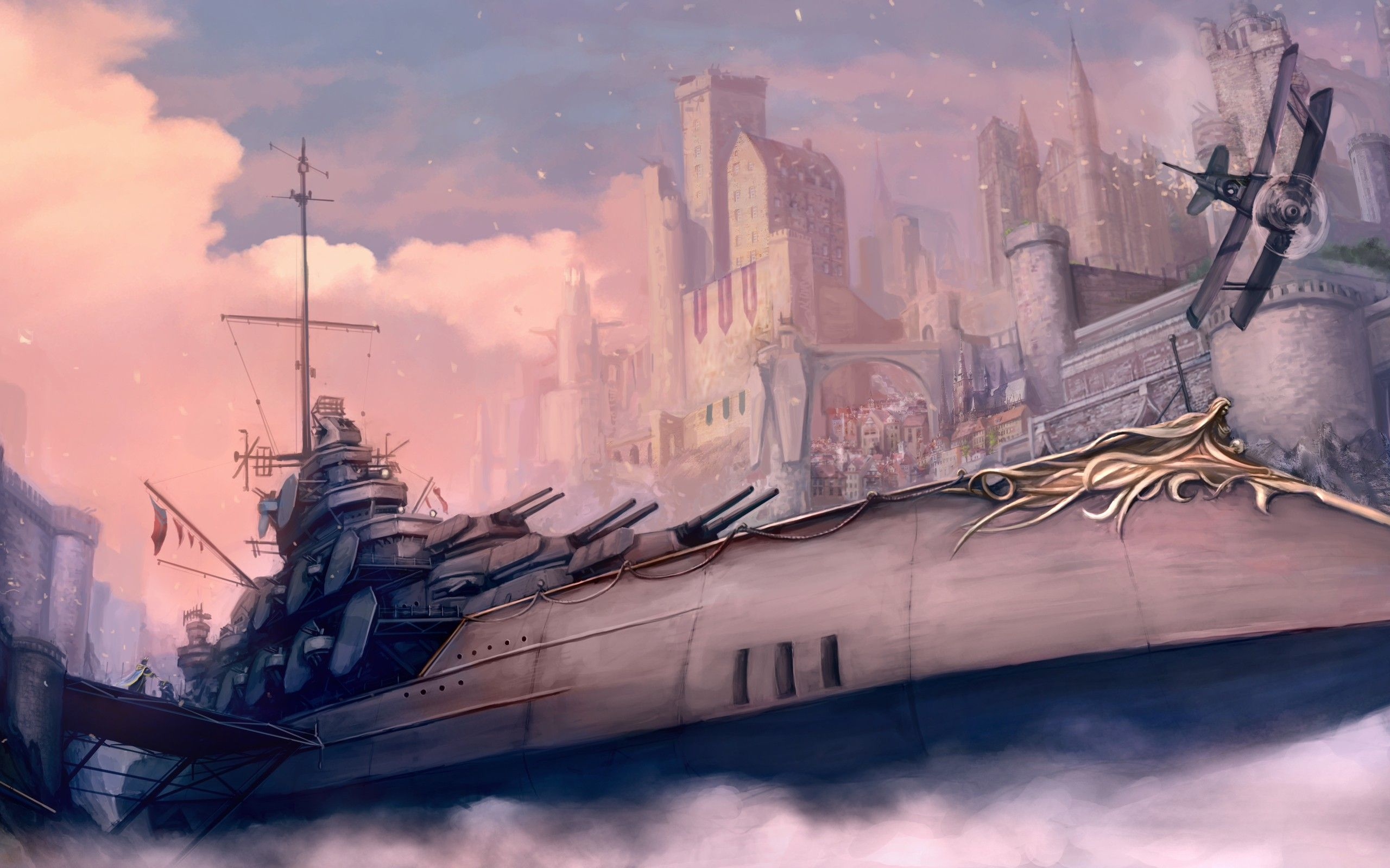 Steampunk Art | Battle Ship – Steampunk wallpaper of a ...