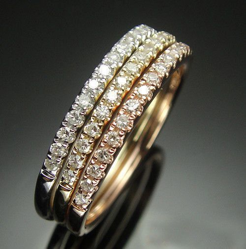 ring set halo band wedding double eternity diamond sets cut princess bands half shop moissanite engagement