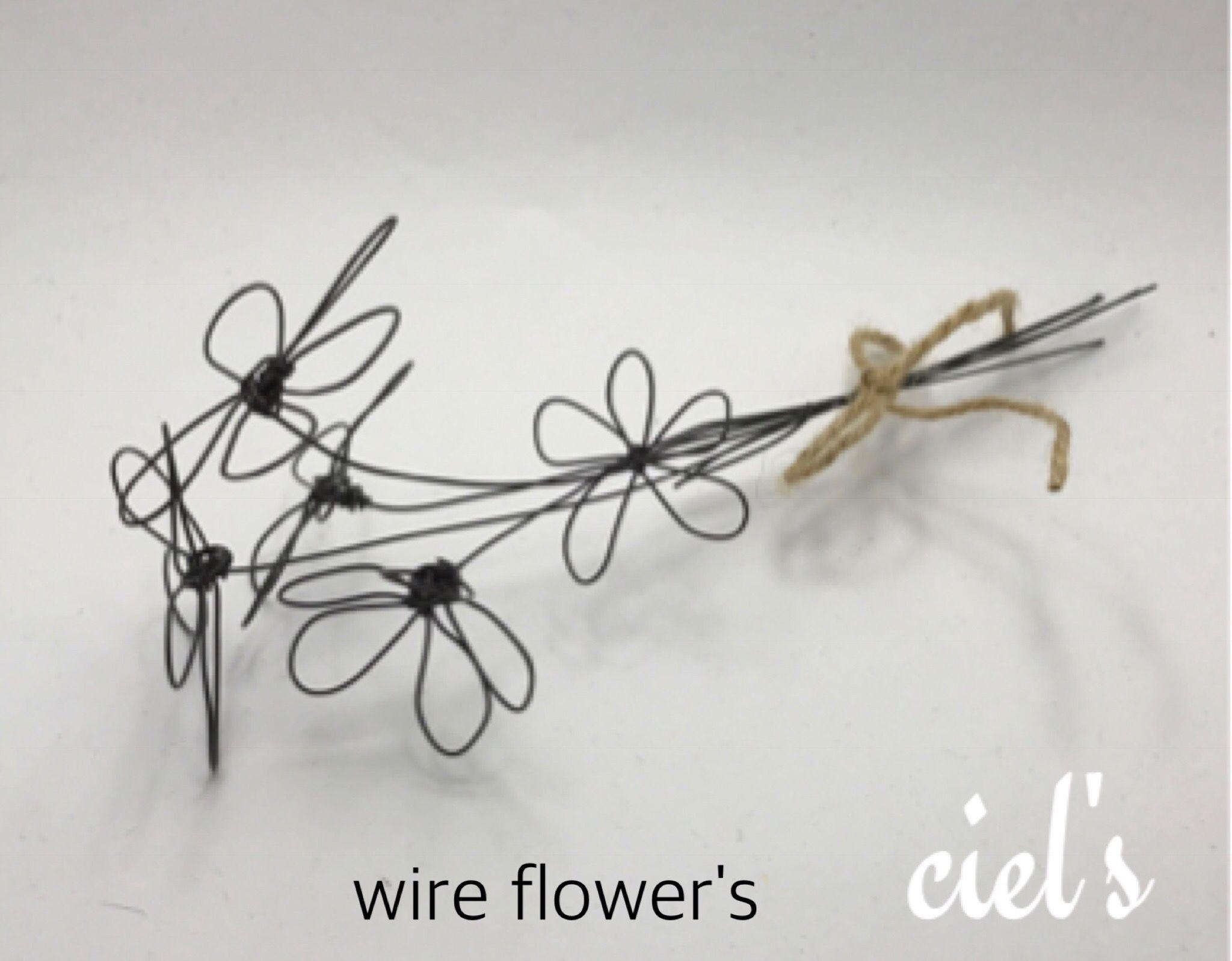 #ワイヤーワーク #わいやーくらふと #ciel ワイヤー花束完成。久しぶりに作りました。