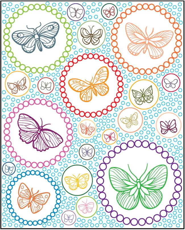 Welcome To Dover Publications Creative Haven Beautiful Butterflies Designs With A Splash Of Color Coloring SheetsAdult