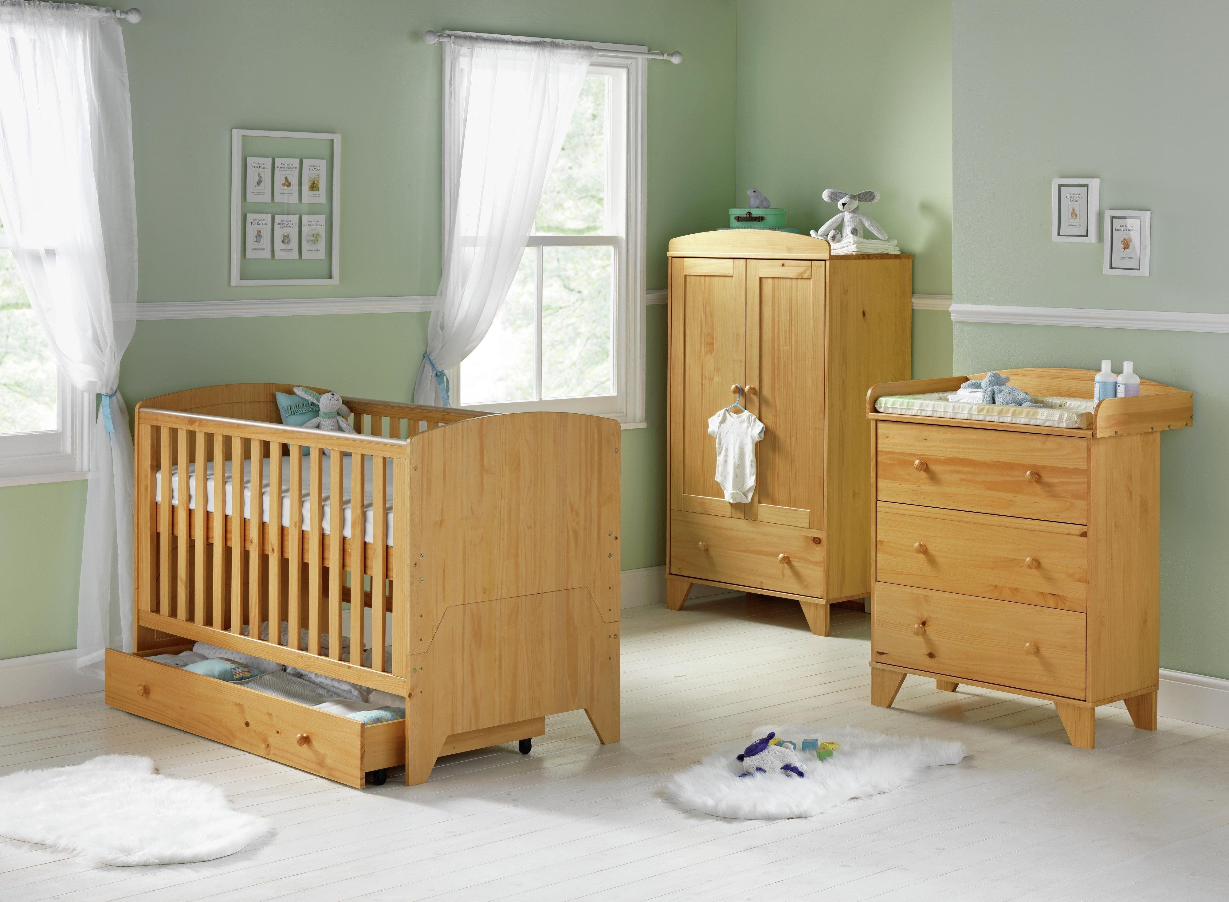 249 99 Babystart New Oxford 5 Piece Furniture Set Pine Baby Deals Of The Day Uk