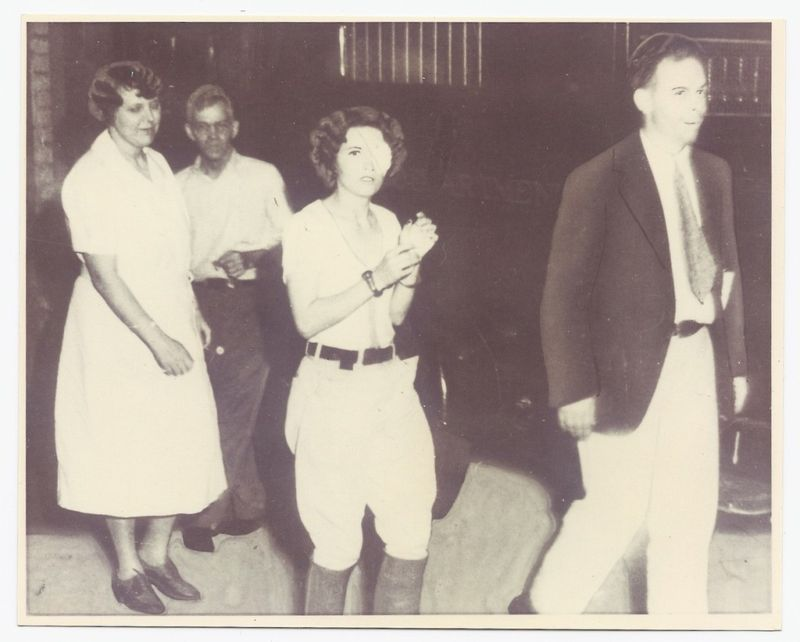 Blanche Caught And Ready To Go To Jail Bonnie Parker Bonnie And Clyde Musical Bonnie N Clyde