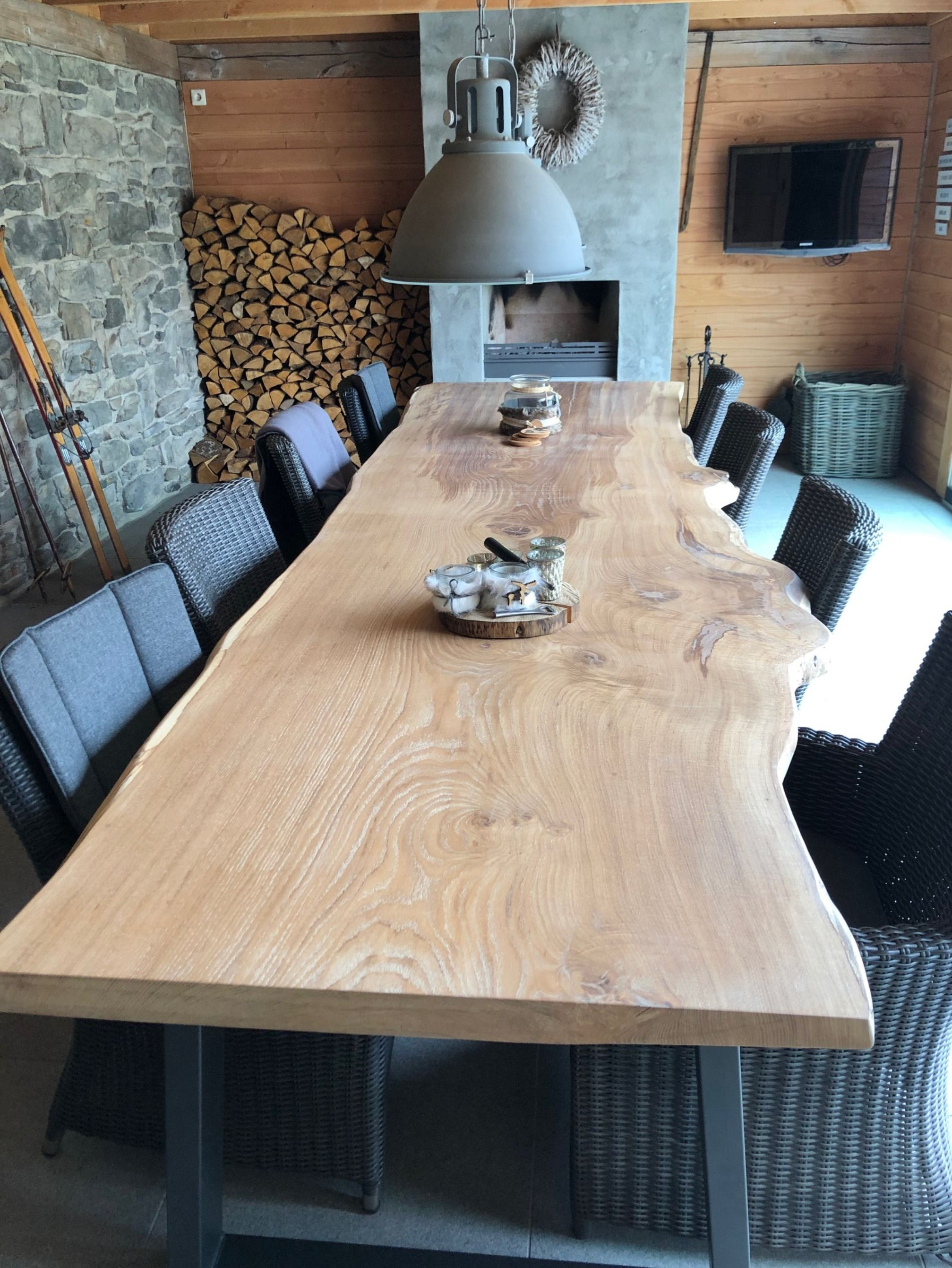 Boomstam Tafel 4 Meter.Boomstamtafel 4 Meter Collection Meters