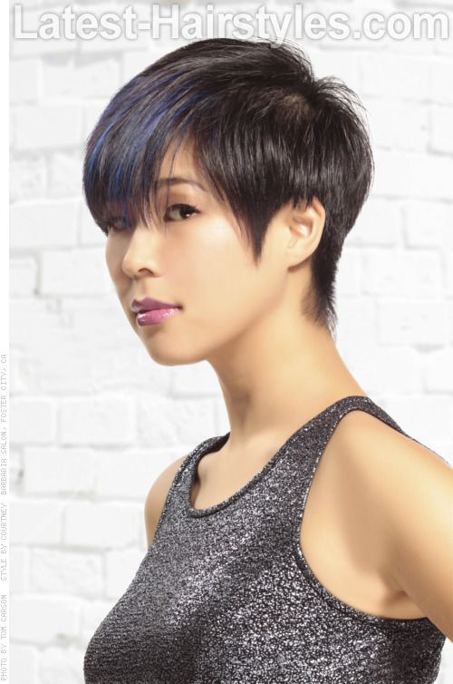 Classic Short Hairstyle with Pointed Sideburns | Short Hair & Pixie ...