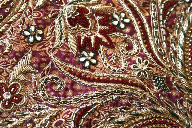 Once Upon A Tea Time.... Design Stories Riiti Fashion #embroidery #sari #silk