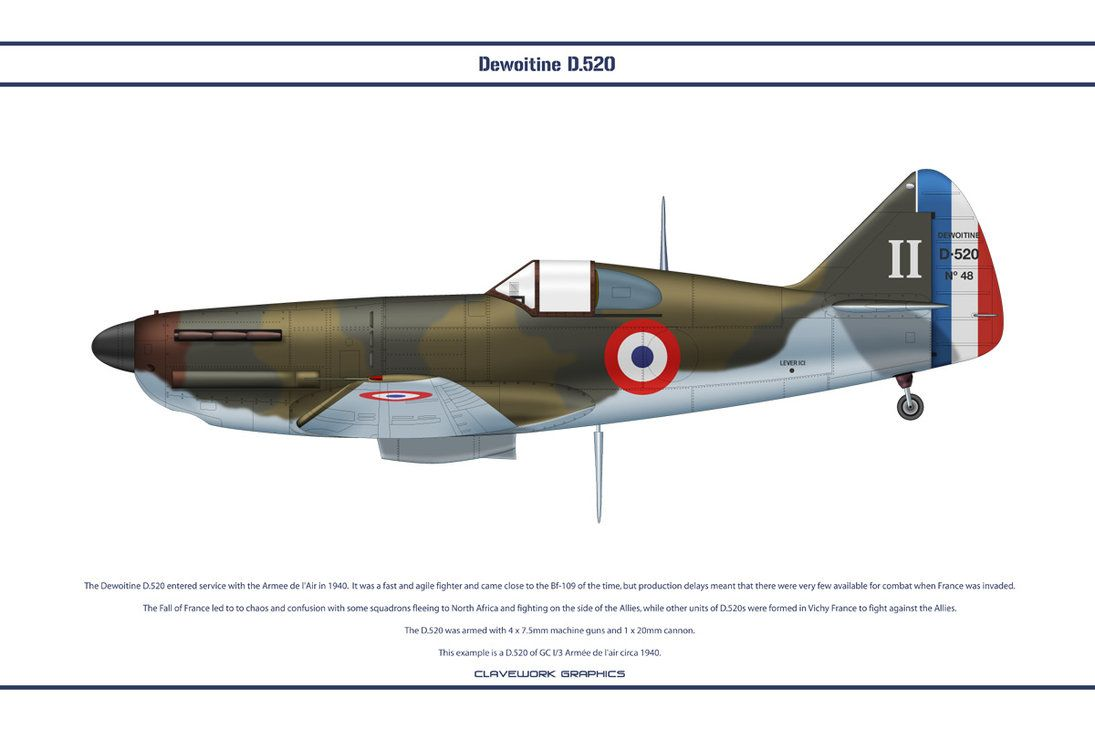 D.520 France GC I-3 2 by WS-Clave on deviantART