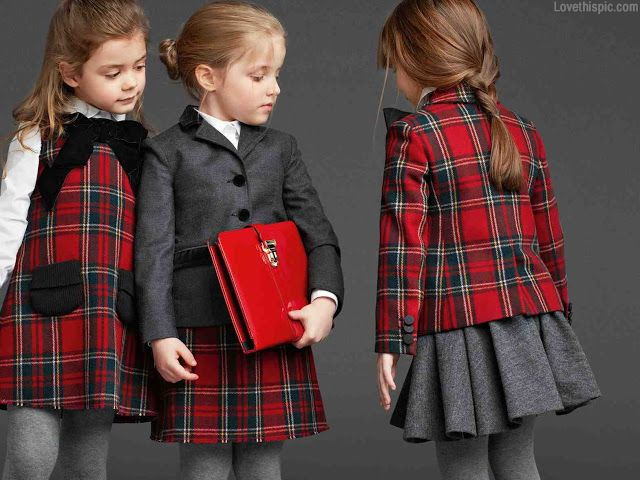 Preppy Style Autumn Girls Style Dresses Plaid Preppy Kids Fashion Kids Clothes Childrens Fashion