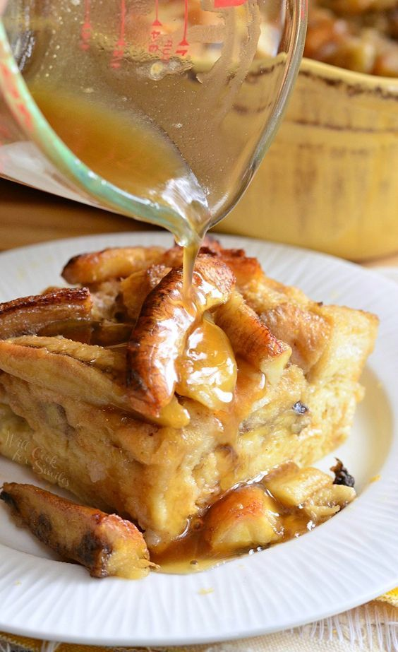 Bananas Foster Bread Pudding - Will Cook For Smiles