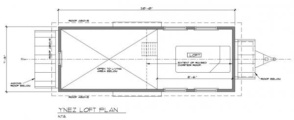 ynez tiny house floor plan 1 600x246 ynez tiny house on wheels by oregon cottage company