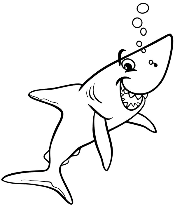 Shark Coloring Page To Print For Free Fish Coloring Page Free Coloring Page Template Pr Kids Printable Coloring Pages Shark Coloring Pages Fish Coloring Page