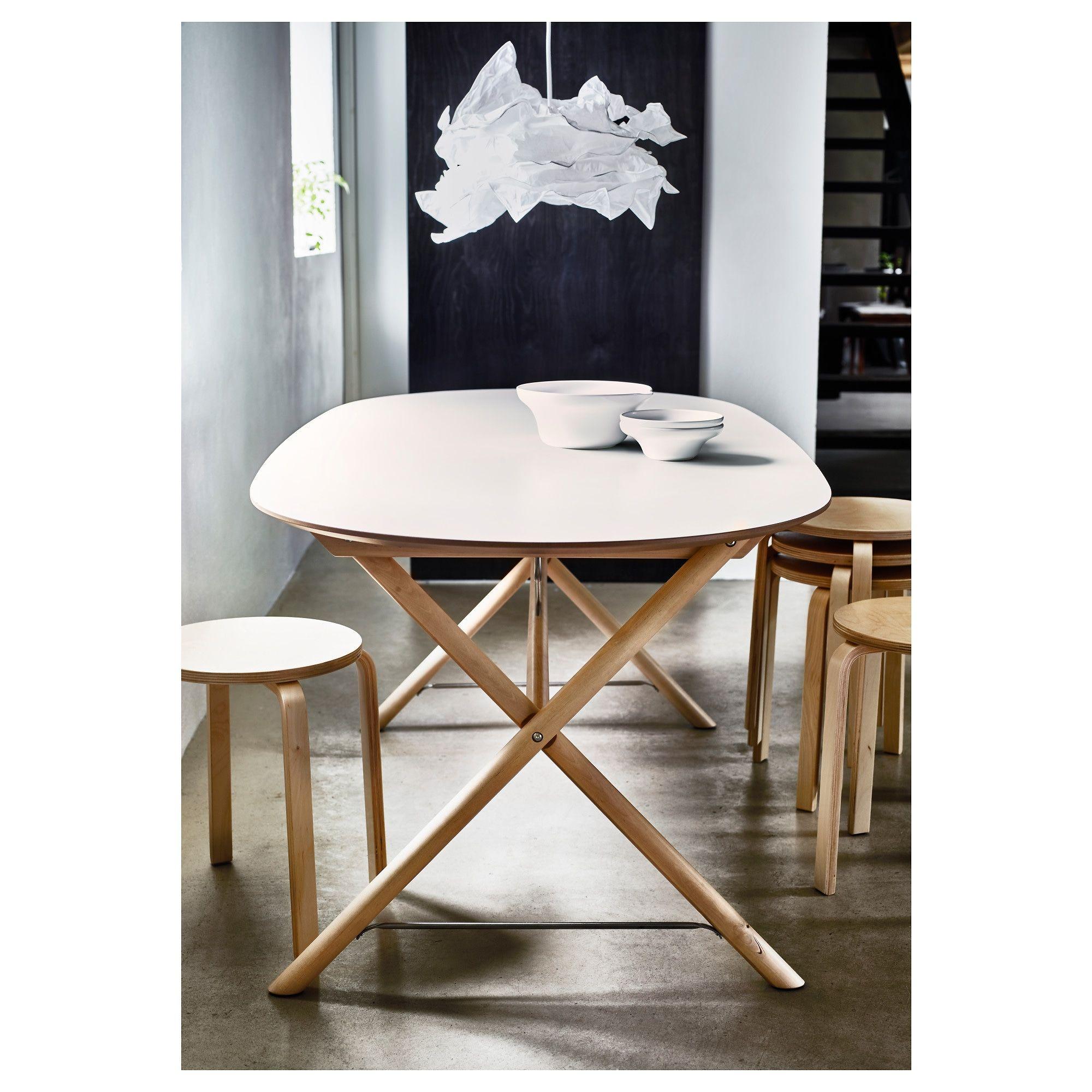 SLÄHULT Table, blanc bouleau, Dalshult blanc bouleau   IKEA ...