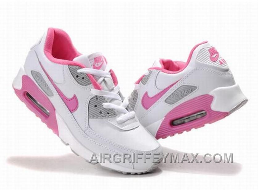 Online Women s Nike Air Max 90 White Pink in 2019  231d71a03