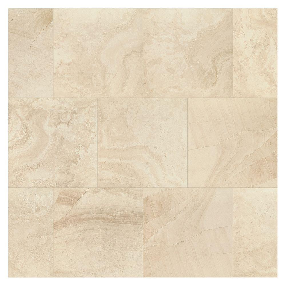 Marazzi Developed By Nature Rapolano 12 In X 12 In Glazed Porcelain Floor And Wall Tile 14 55 Sq Ft Case Dn131212hd1p6 The Home Depot Porcelain Flooring Flooring Tile Floor