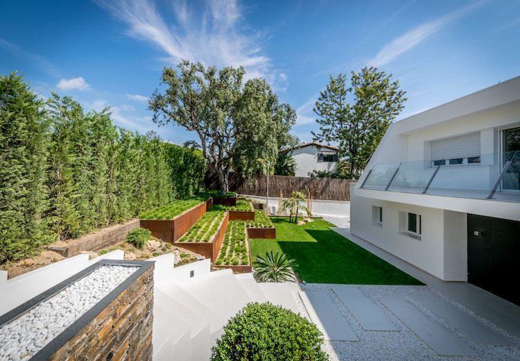 Aménagement jardin devant maison en 50 idées modernes Jardin