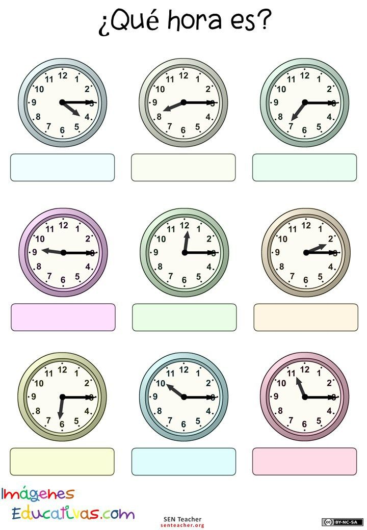 Trabajamos las horas   Clock, Clock worksheets, Worksheets ...