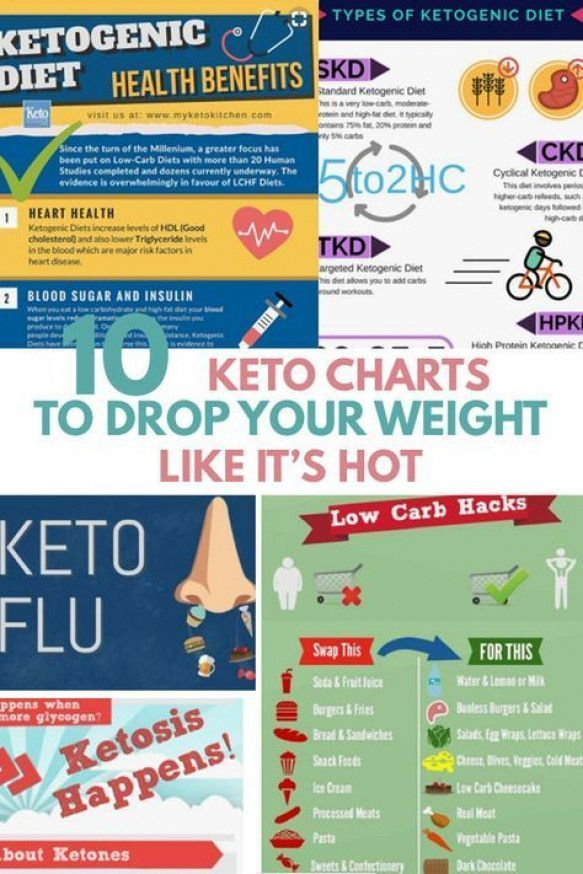 KETO DIET FOR BEGINNERS guide in infographic /