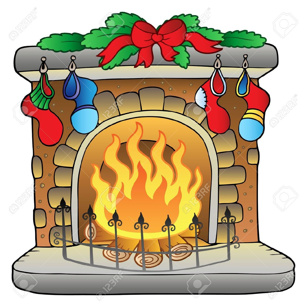 previews 123rf com images clairev clairev1012 clairev101200011 rh pinterest com christmas stocking fireplace clipart christmas tree and fireplace clipart