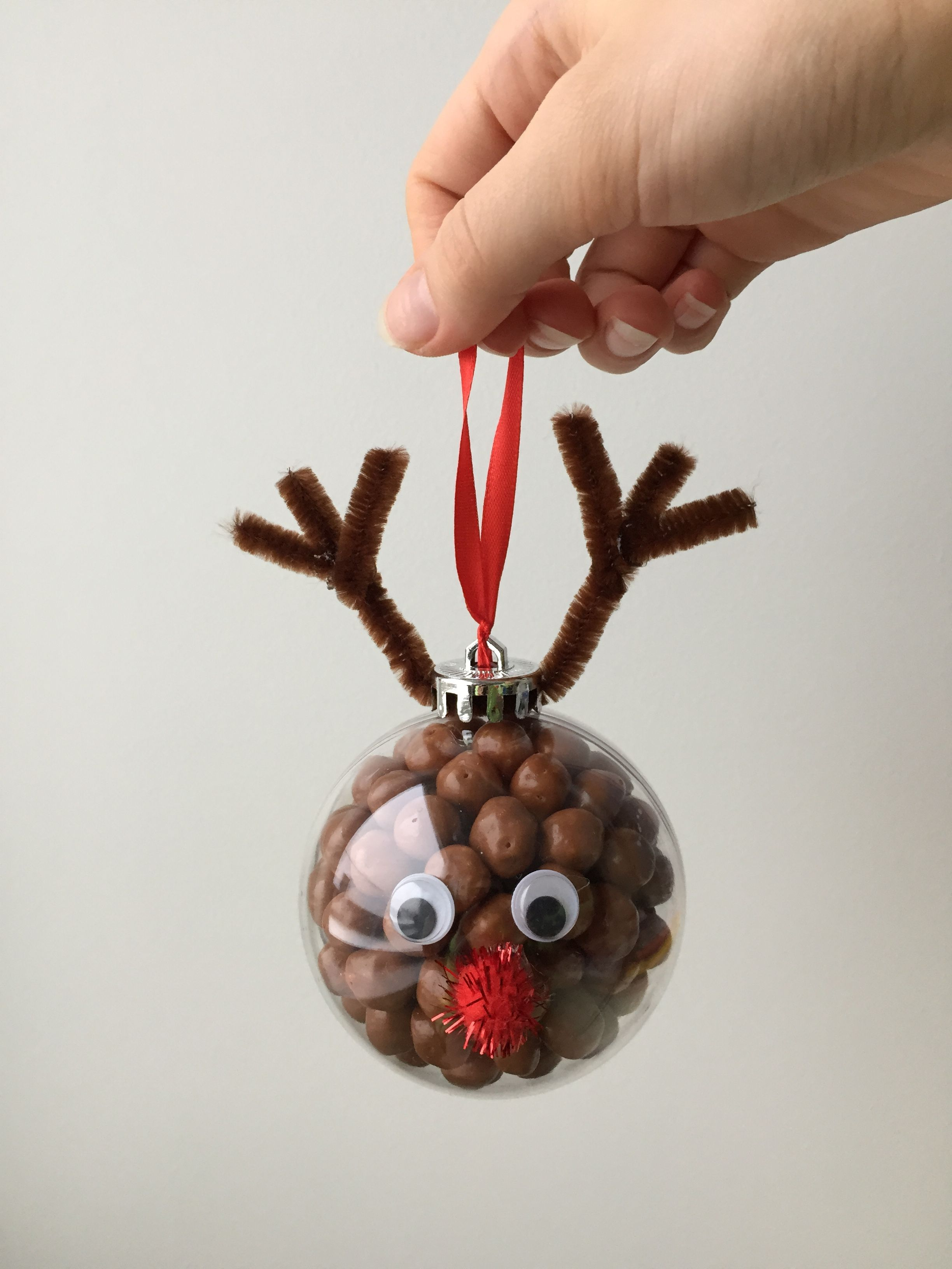 Christmas Tree Reindeer Ornaments Filled With Candy A Great Gift