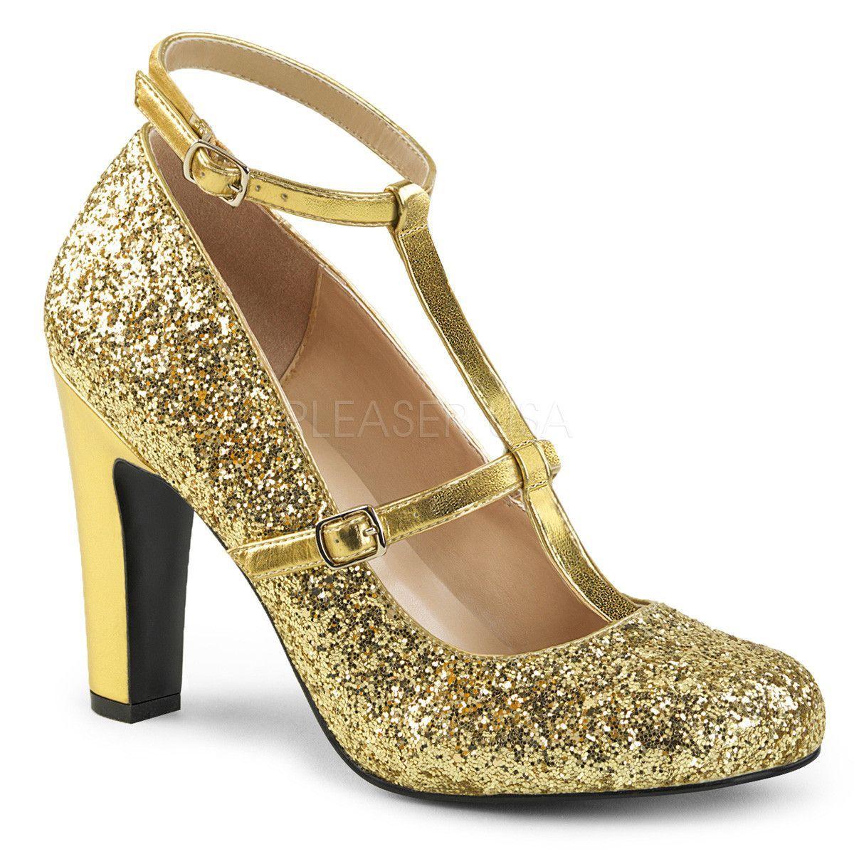"""PLEASER PINK LABEL Divine-435 Series 3/"""" Heel Extended Size Ankle-Strap Sandal"""