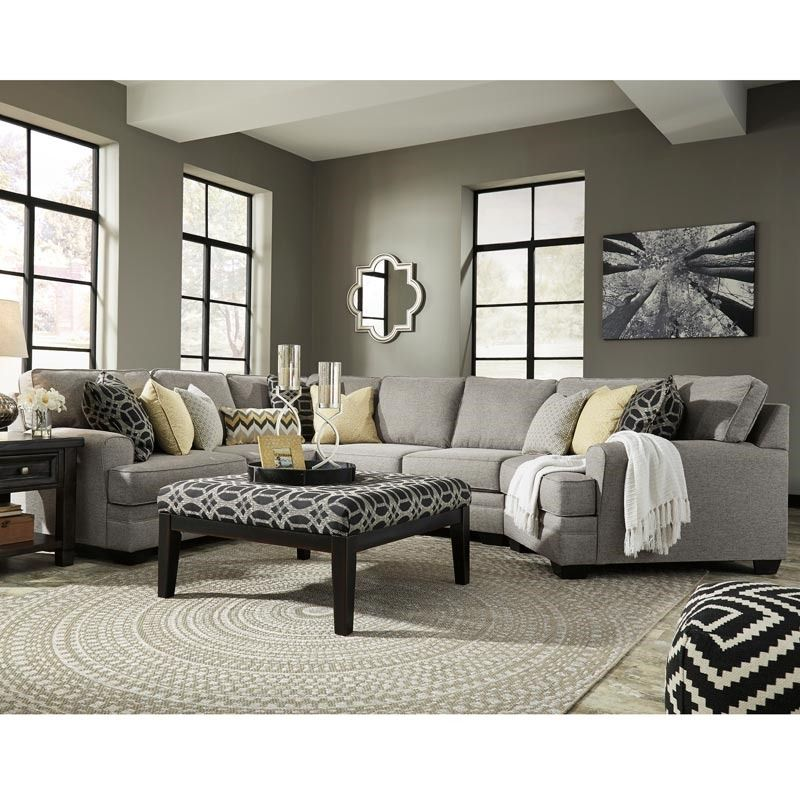 Ashley Cresson Gray Sectional With Cuddler Ashley