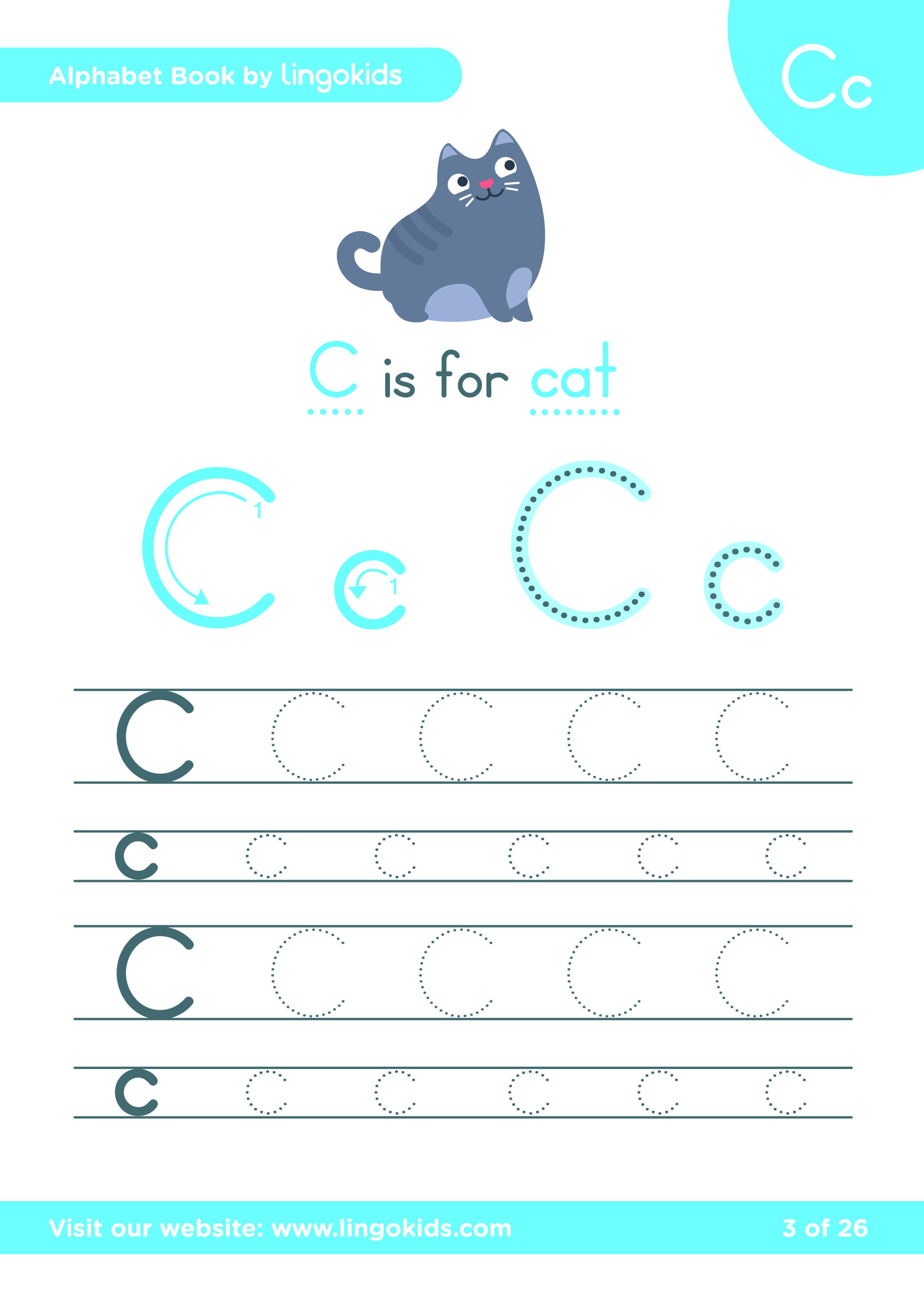 CAT Initials Alphabet FUN Note Pads!