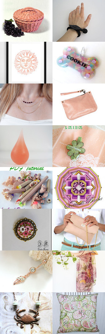 Peach by Laura P. on Etsy--Pinned with TreasuryPin.com