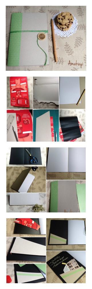 Como hacer una libreta con una caja de cereales diy and - Como hacer una caja ...