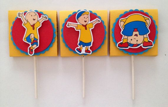 Caillou inspired lollipop candy favors set of 12 by LoLLiLicious, $15.00