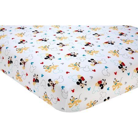 Disney 100 Polyester Microfiber Crib Sheets Let S Go Mickey Ii Walmart Com Mickey Mouse Nursery Disney Baby Nurseries Crib Sheets