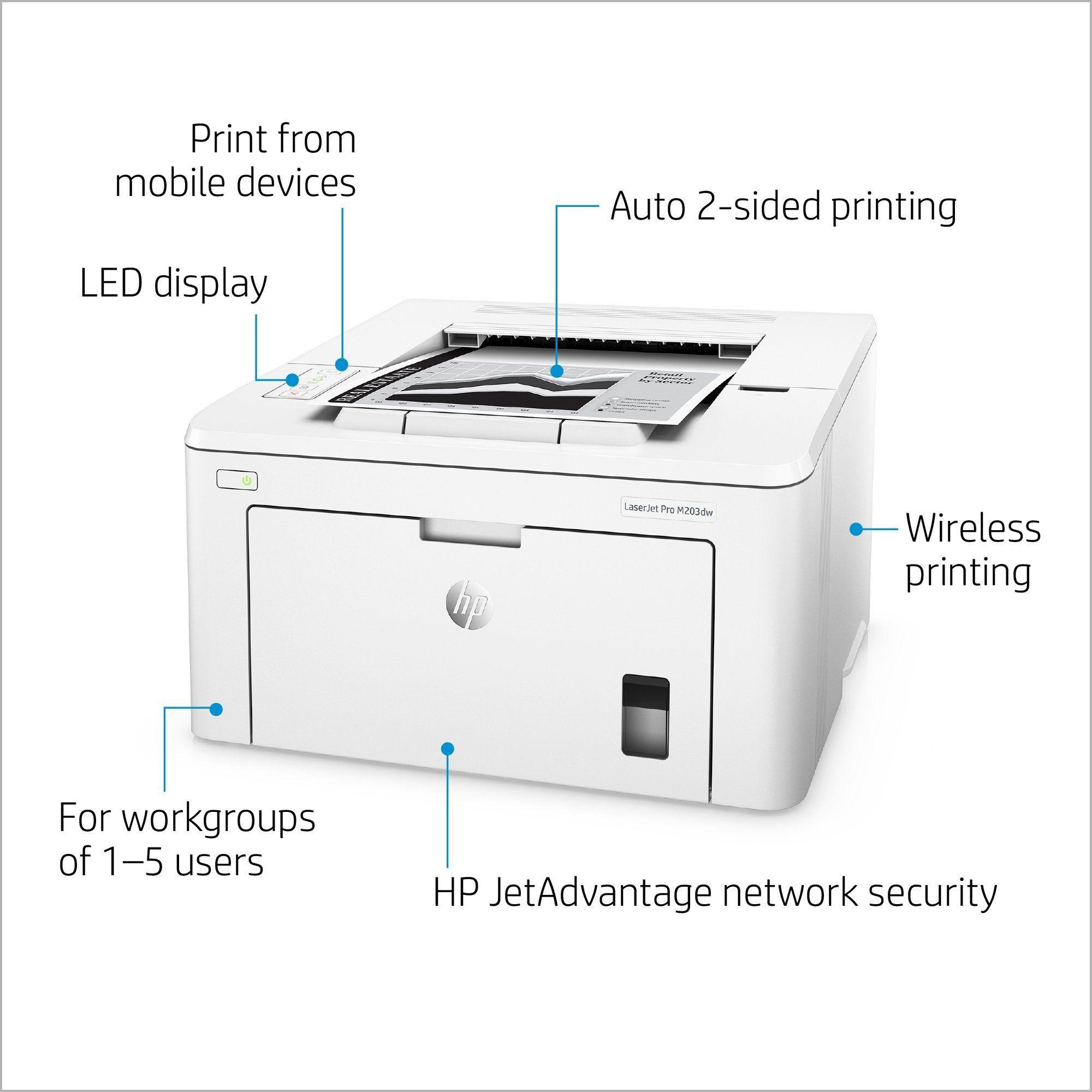 Hp g3q47a computerprinter printer works with alexa