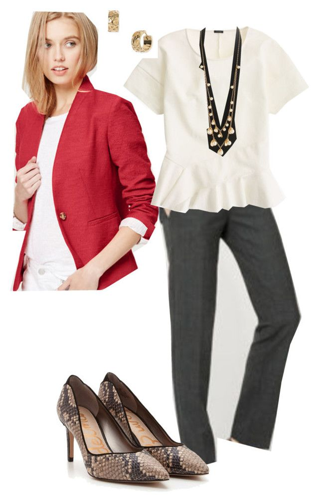 """""""wearing 3.17.16"""" by busyvp ❤ liked on Polyvore featuring Ann Taylor, J.Crew and Kate Spade"""