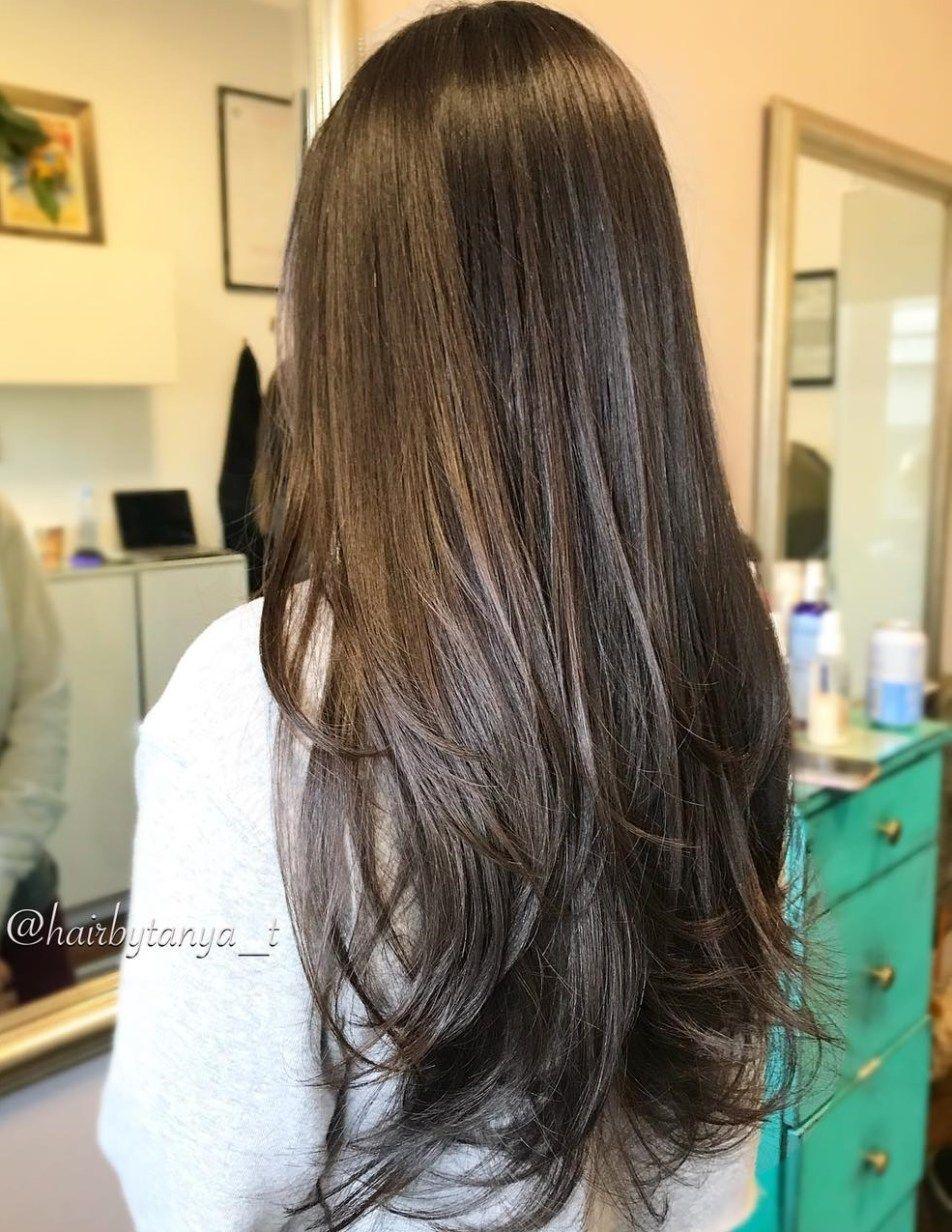 9 Top Haircuts for Long Thin Hair in 9   Hair Adviser   Long ...